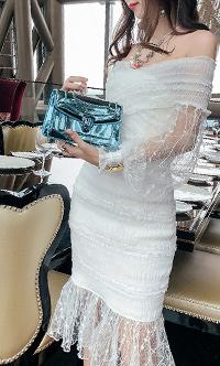 韩版性感蕾丝包臀套装裙